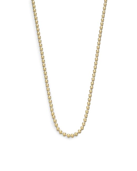 "Temple St. Clair | Metallic 18k Yellow Gold Ball Necklace Chain/18""-20 