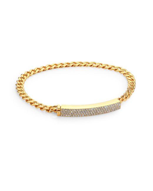 Adriana Orsini | Metallic Pave Crystal Curb Link Bracelet/goldtone | Lyst