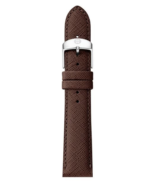 Michele Watches - Brown Saffiano Leather Watch Strap/18mm - Lyst