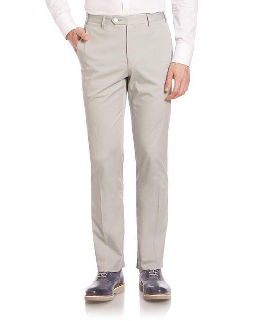 Corneliani - Gray Slim-fit Dress Pants for Men - Lyst