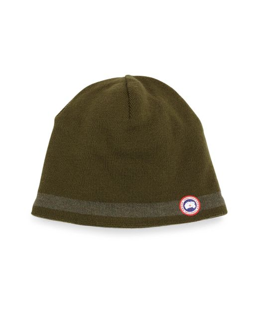 Canada Goose | Green Merino & Fleece Beanie for Men | Lyst