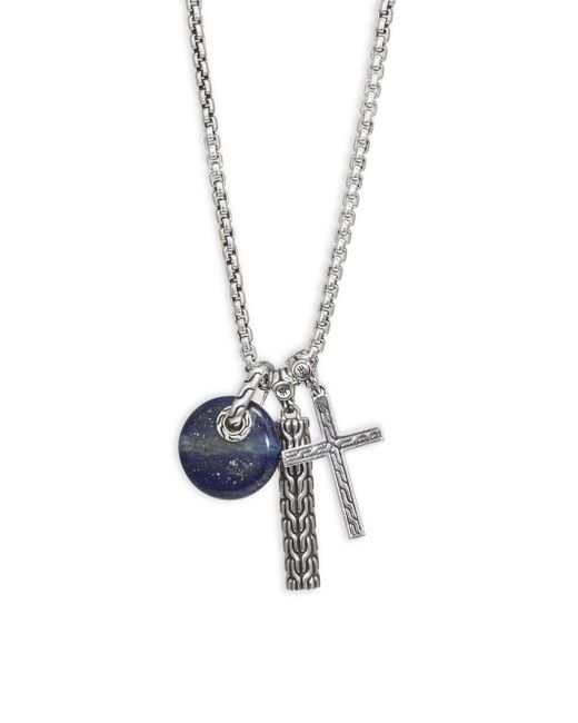 John Hardy - Blue Silver Pendant Necklace for Men - Lyst