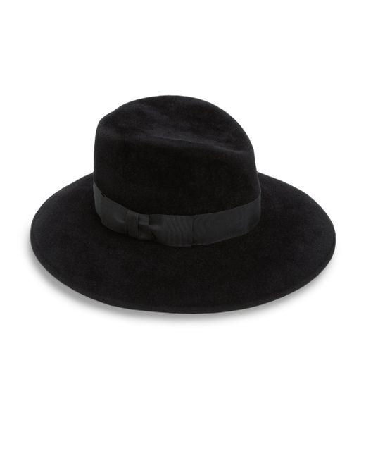 Eric Javits | Black Zora Milled Rabbit Hair Hat | Lyst