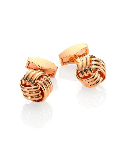 Tateossian - Metallic Knot Cuff Links for Men - Lyst