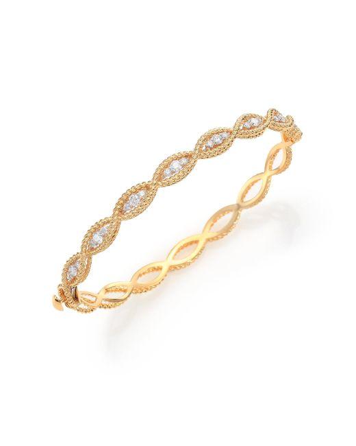 Roberto Coin - Metallic Barocco Diamond & 18k Yellow Gold Braided Bangle Bracelet - Lyst