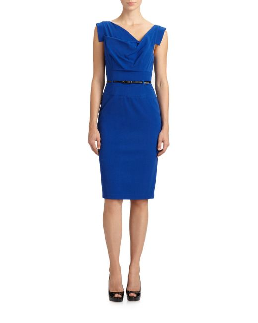 Black Halo - Blue Jackie O. Dress - Lyst