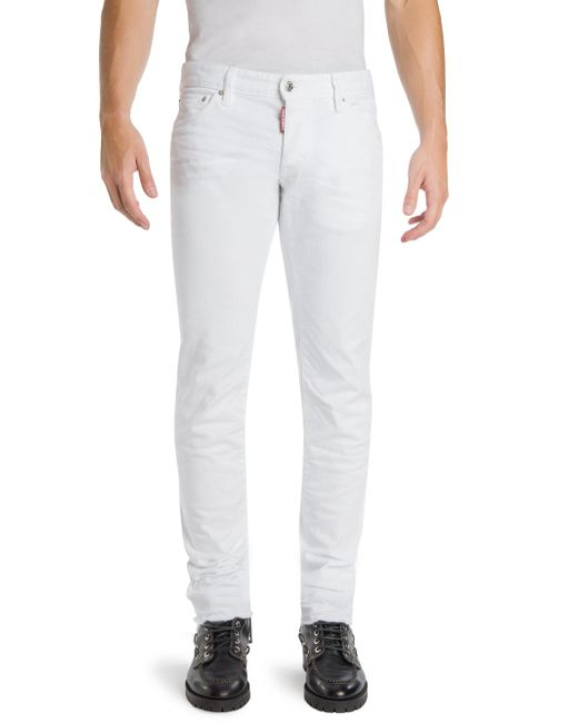 DSquared² - White Slim-fit Bull Jeans for Men - Lyst