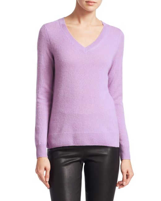 Saks Fifth Avenue - Purple Collection Featherweight Cashmere V-neck Sweater - Lyst