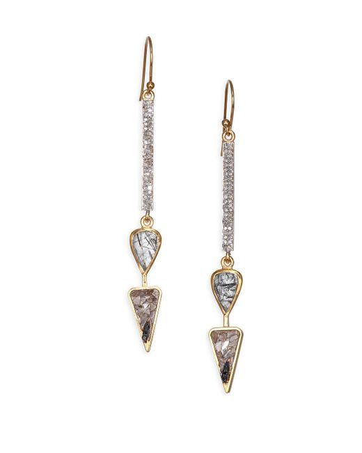 Shana Gulati - Metallic Benna Earrings - Lyst