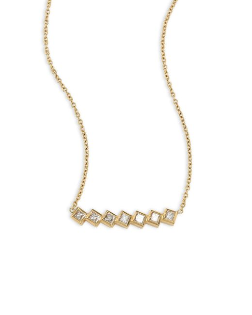 Melissa Kaye - Metallic Margo Diamond & 18k Yellow Gold Necklace - Lyst