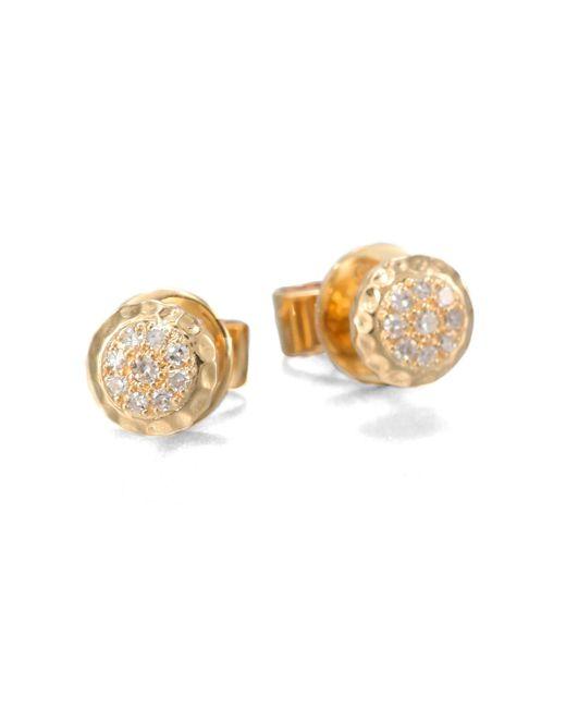 Phillips House - Metallic 14K Yellow Gold & Diamond Delicate Stud Earrings - Lyst