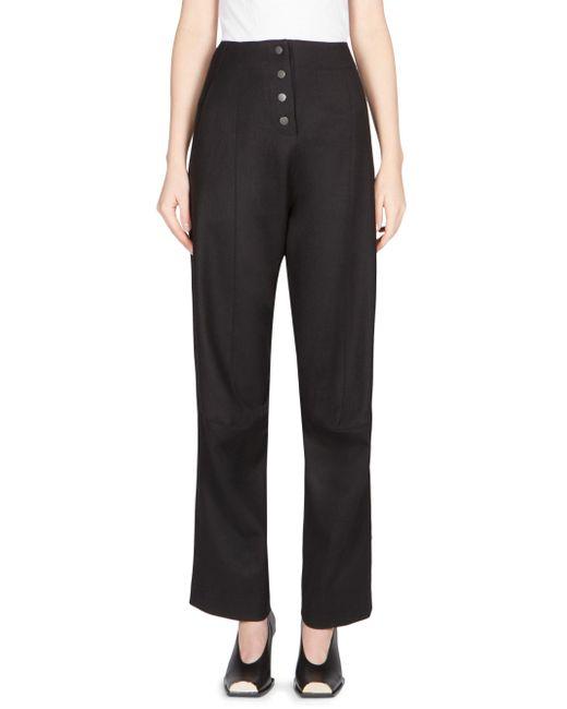 Stella McCartney | Black Wool High Waist Trouser | Lyst
