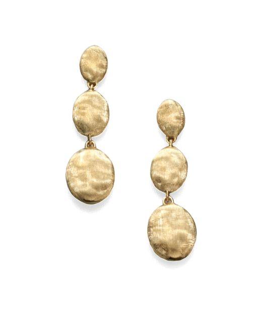 Marco Bicego - Metallic Siviglia 18k Yellow Gold Triple-drop Earrings - Lyst