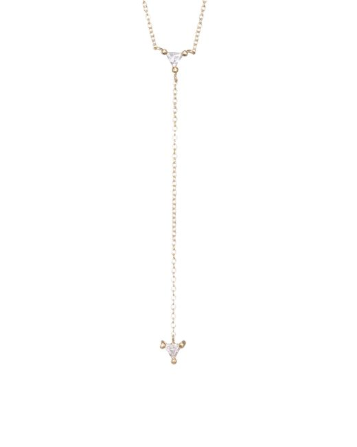 Jennifer Zeuner - Metallic Ava Mini Lariat Necklace - Lyst