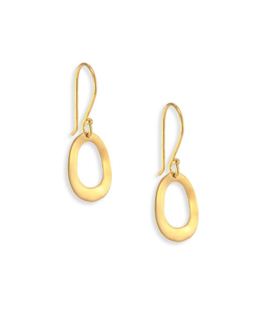 Ippolita - Metallic Glamazon Sculptural Metal 18k Yellow Gold Mini Open Oval Drop Earrings - Lyst