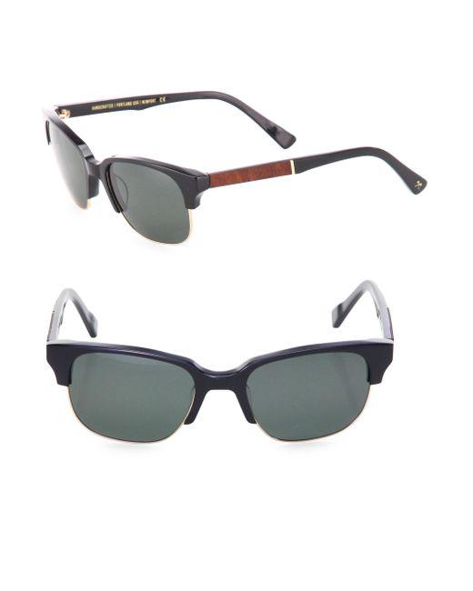 Shwood - Brown Newport 52mm Acetate & Mahogany Sunglasses for Men - Lyst