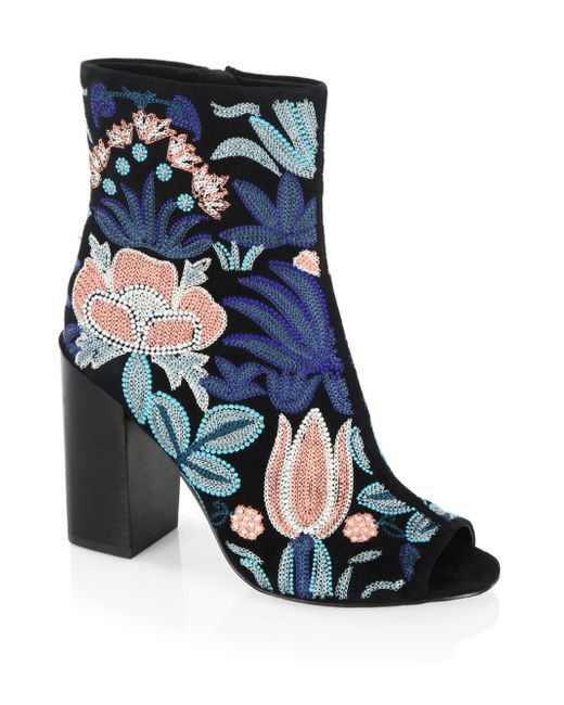 Rebecca Minkoff | Blue Bridget Embroidered Leather Boots | Lyst