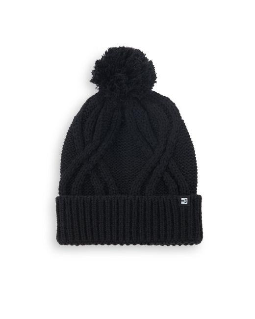 Block Headwear - Black Cableknit Cotton Beanie - Lyst