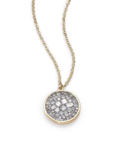 Plevé - Metallic Ice Diamond & 18k Yellow Gold Pendant Necklace - Lyst