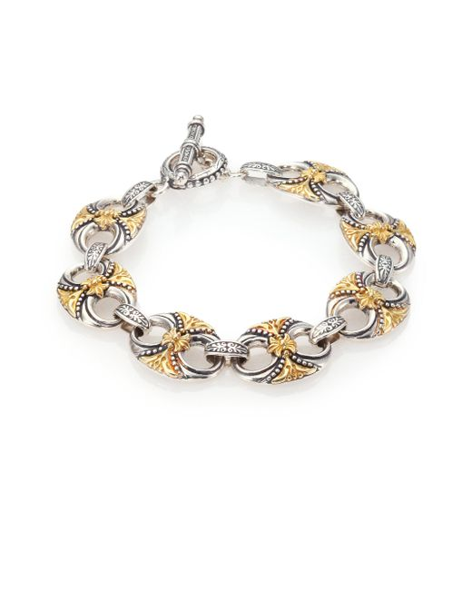 Konstantino | Metallic Hebe 18k Yellow Gold & Sterling Silver Bracelet | Lyst