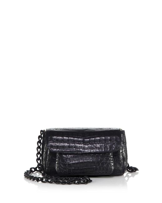 Nancy Gonzalez - Black Mini Crocodile Chain Crossbody Bag - Lyst