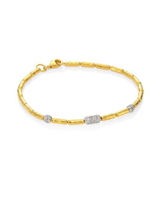 Gurhan - Metallic 24k Gold Beaded Bracelet - Lyst