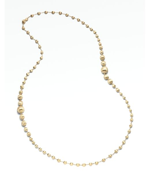 Marco Bicego - Metallic Africa 18k Yellow Gold Long Ball Necklace - Lyst