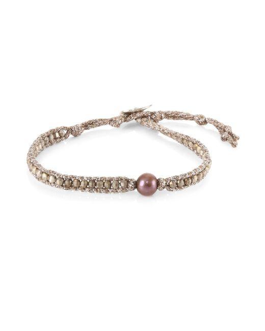 Chan Luu - Multicolor Dark Champagne Pearl Bracelet - Lyst
