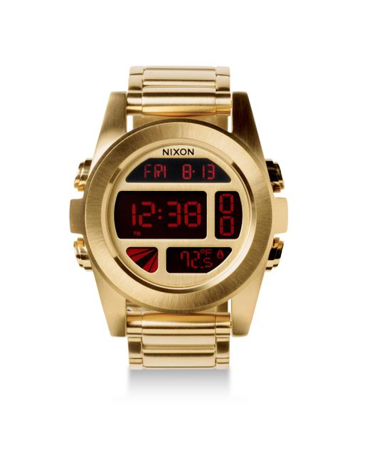 Nixon - Metallic Unit Stainless Steel Digital Bracelet Watch - Lyst