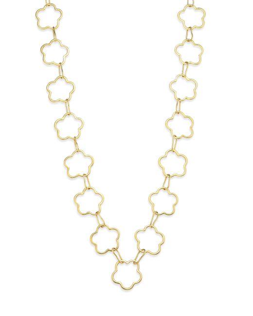 Vaubel - Metallic Connected Flower Link Necklace - Lyst