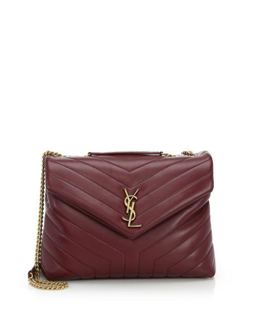 Saint Laurent - Purple Medium Lou Lou Leather Shoulder Bag - Lyst