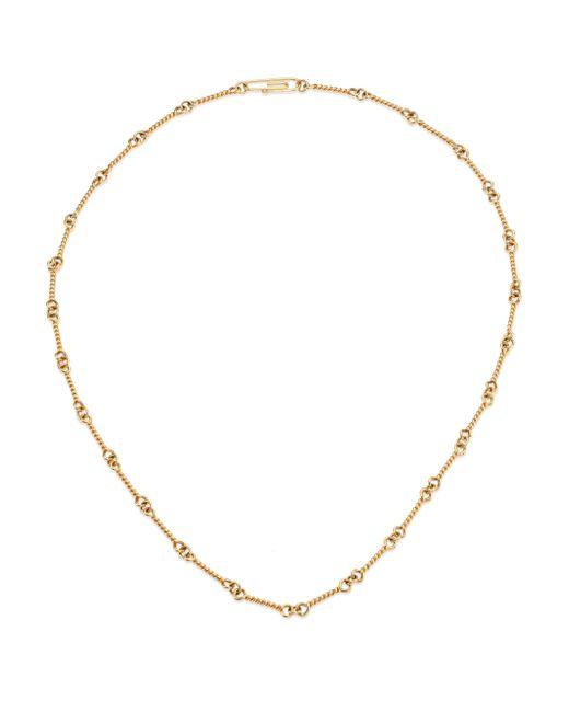 Aurelie Bidermann - Metallic 18k Yellow Gold Twisted Chain Necklace/16 - Lyst
