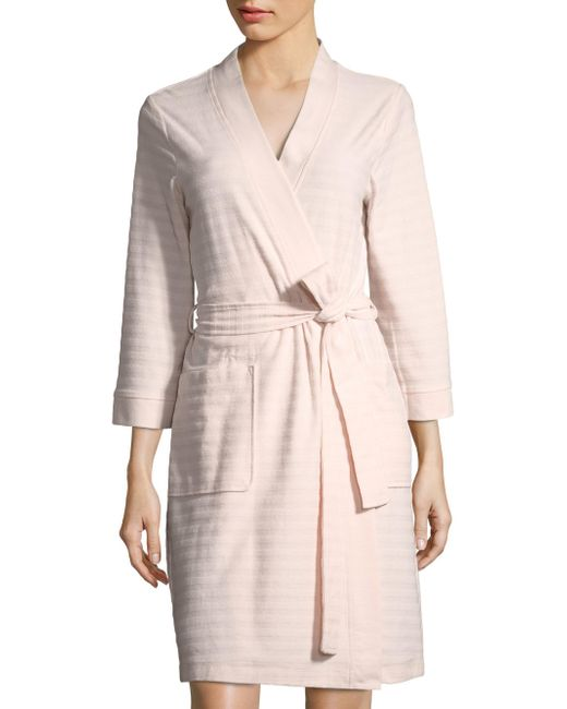 Saks Fifth Avenue - Pink Collection Stripe Terry Robe - Lyst