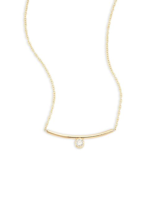 Zoe Chicco - Metallic Diamond & 14k Yellow Gold Necklace - Lyst