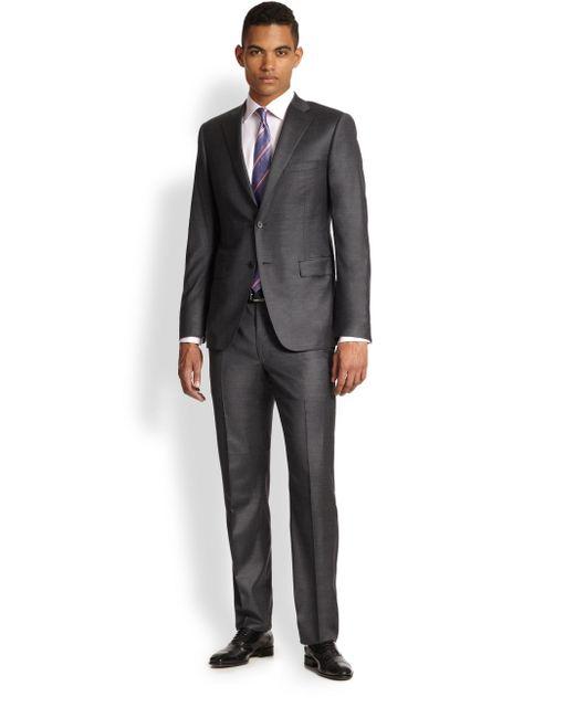 Saks Fifth Avenue - Gray Samuelsohn Basic Wool Suit for Men - Lyst