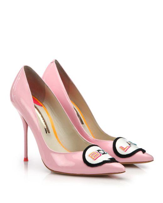 Sophia Webster | Pink Boss Lady Leather 100mm Pump | Lyst