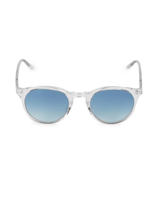 Barton Perreira Blue Princeton 49mm Round Sunglasses for men