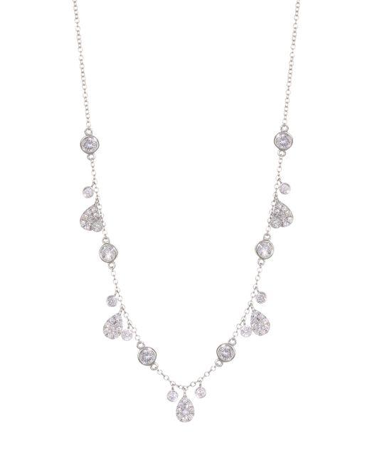 Meira T - Metallic 14k White Gold & Diamond Charm Necklace - Lyst