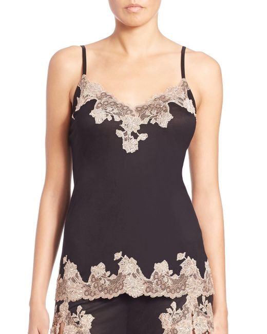 Natori - Black Charlize Lace Embroidered Cami - Lyst