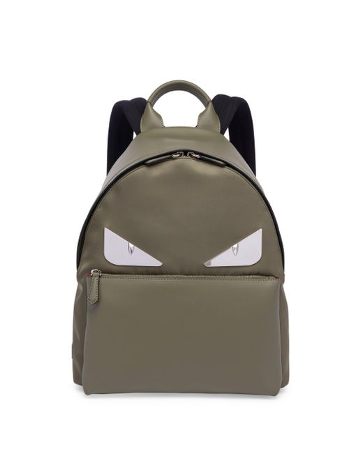 Fendi - Green Monster Leather & Tech-twill Backpack for Men - Lyst