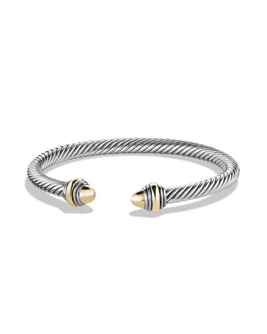 David Yurman - Metallic Cable Classic Bracelet With Amethyst And Gold - Lyst