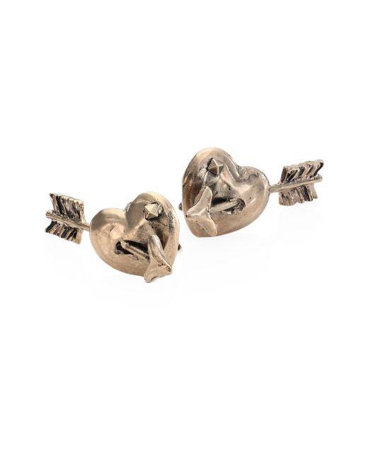 Valentino | Metallic Tropical Dream Pierced Heart Stud Earrings | Lyst