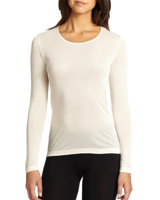 Hanro - Natural Silk Long-sleeve Top - Lyst