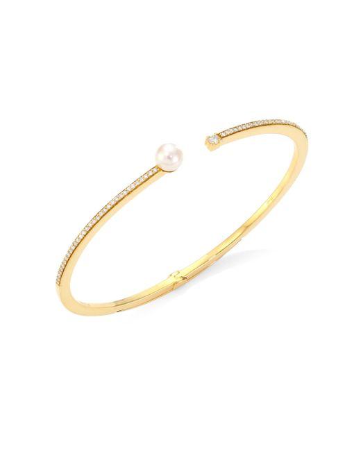 Hueb - Metallic 18k Yellow Gold & Diamond Bangle - Lyst