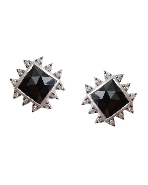 Coomi | Vitality Diamond, Black Spinel & Sterling Silver Stud Earrings | Lyst