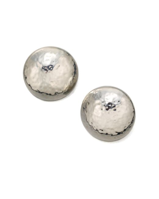 Ippolita - Metallic Glamazon Sterling Silver Button Earrings - Lyst