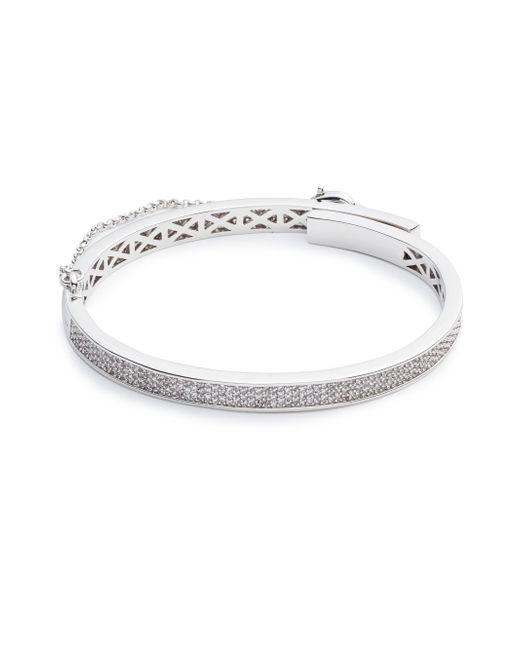 Eddie Borgo - Metallic Thin Pave Safety Chain Bracelet - Lyst