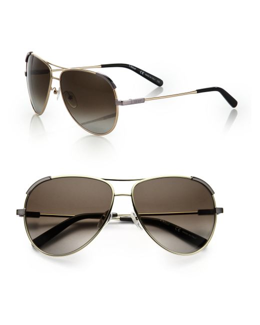 Chloé - Metallic Eric 60mm Aviator Sunglasses - Lyst