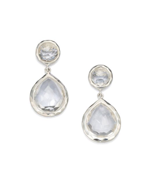 Ippolita | Metallic Clear Quartz Snowman Drop Earrings | Lyst
