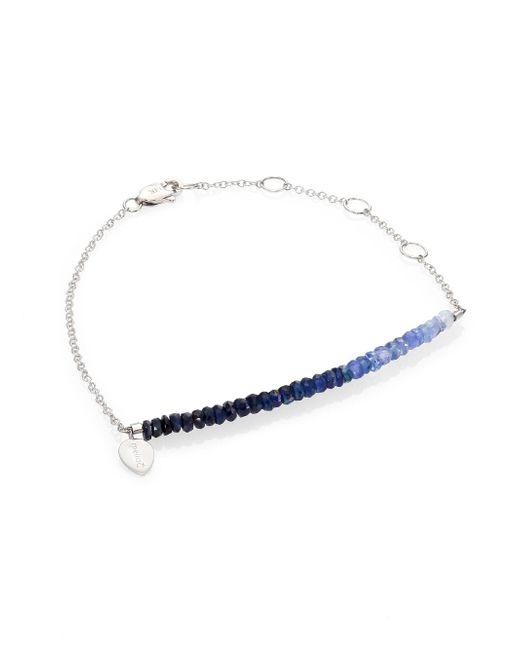 Meira T - Metallic Sapphire & 14k White Gold Ombré Beaded Bracelet - Lyst